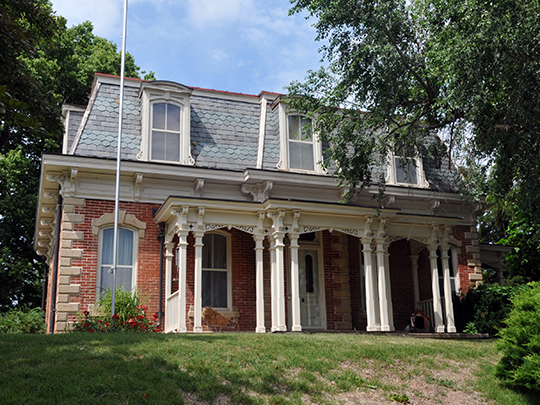 John Dickinson Dopf Mansion, ca. 1876, 407 Cass Street, Rock Port, MO, National Register