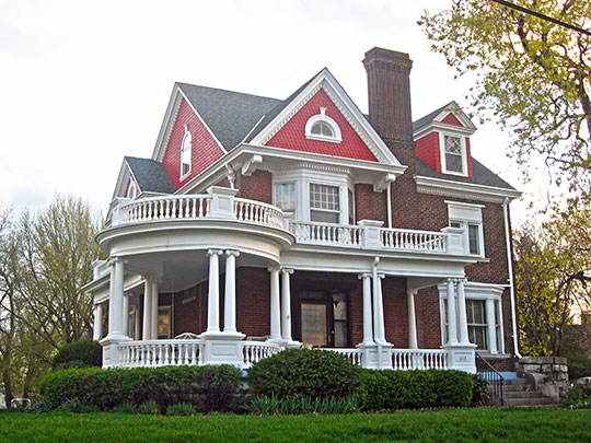 William Henry and Lilla Luce Harrison House, ca. 1897, 313 Themis Street, Cape Girardeau, MO, National Register
