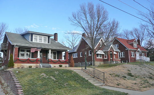 Homes on Fairmount Boulevard, Moreau Drive Historic District, Jefferson City, MO, National Register
