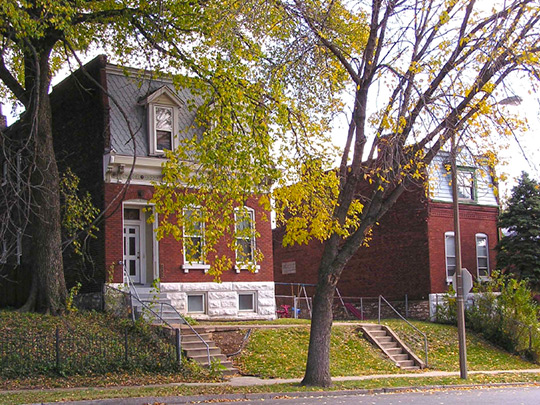 Homes in the Marine Villa Historic District, St. Louis, MO.