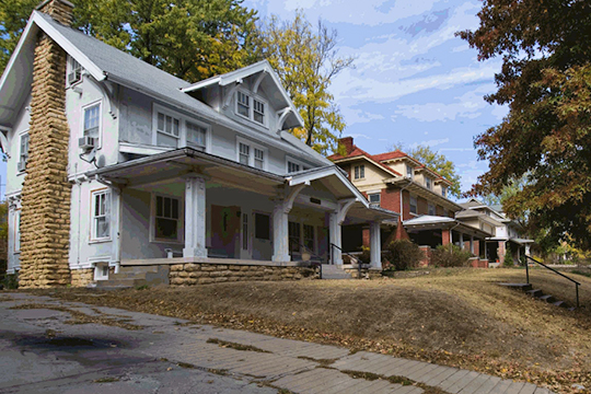 Homes on Tracy Avenue, Squier Park Historic District, Kansas City, MO, National Register
