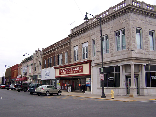 North Side of Courthouse Square, Carthage, MO.