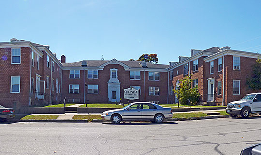 Colonial Apartments, Walnut Street, Carthage, MO, National Register