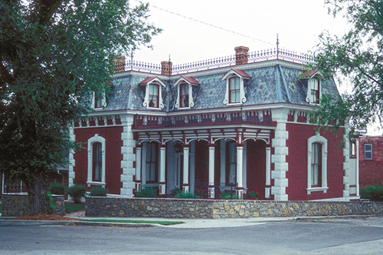 Frederick Krause Mansion, ca. 1883, Herrel Ferrel Drive at 3rd Street, Platte, MO, National Register