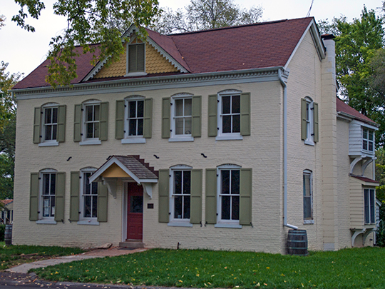 Withington House, ca. 1860, 502 Rue St. Marie, Florissant, MO, National Register
