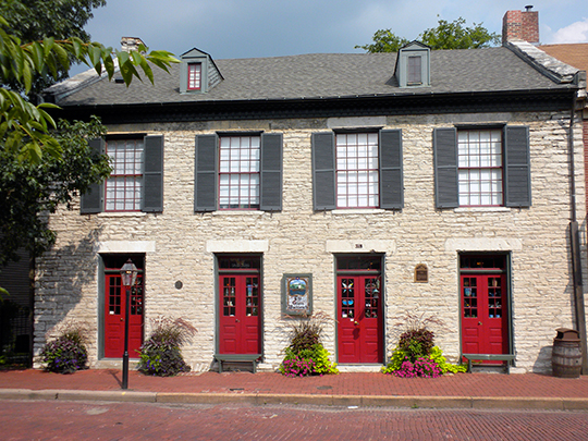 Section of Stone Row, ca. 1815, 318 South Main Street, St. Charles, MO, National Register