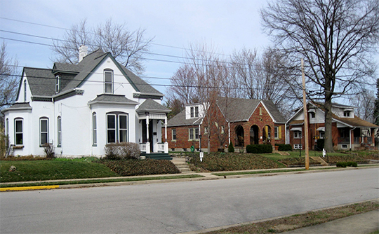 Homes on North 6th Street, Commons Historic District, St. Charles, MO, National Register
