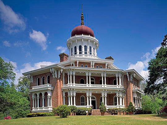 Longwood, ca. 1859, 140 Lower Woodville Road, Natchez, MS.