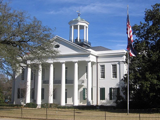 Hinds County Courthouse, ca. 1857, East Main and North Oak Streets, Raymond, Mississippi, National Register