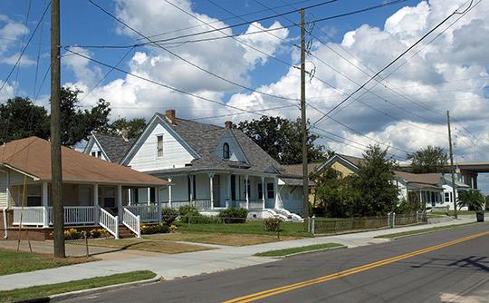 Homes on Frederic Street, Orange Avenue Historic District, Pascagoula, MS, National Register