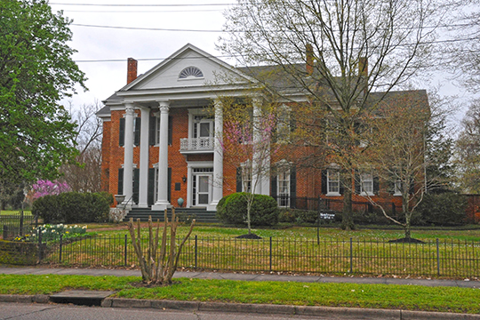 Montrose, ca. 1858, East Holly Springs Historic District, Holly Springs, MS.