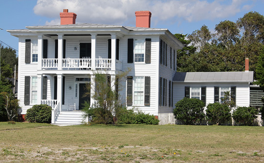 Gibbs House, ca. 1851, 903 Front Street, Beaufort, NC, National Register