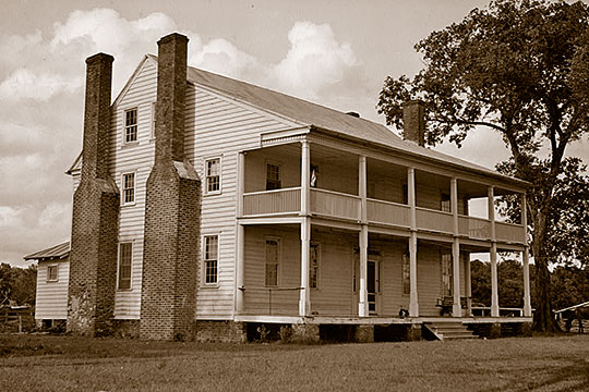 Sandy Point Plantation, ca. 1800, Sound Shore Road, Edenton, NC, National Register