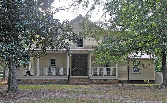 Postmaster House, ca. 1880, South Street, Aberdeen Historic District, Aberdeen, NC, National Register