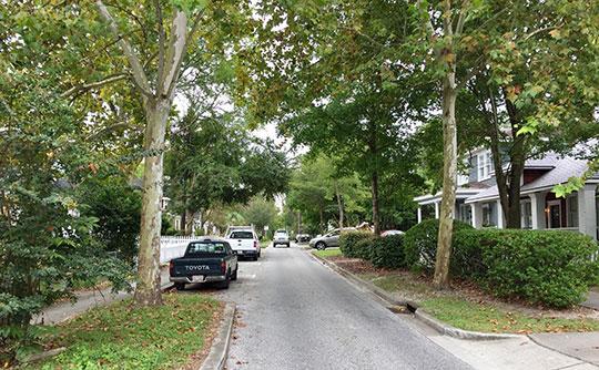 Street scene, Carolina Place Historic District, Wilmington, NC, National Register