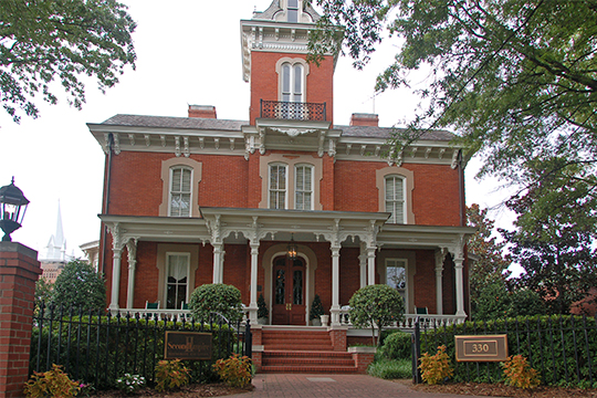 Dodd-Hinsdale House, ca. 1879, 330 Hillsborough Street, Raleigh, NC, National Register