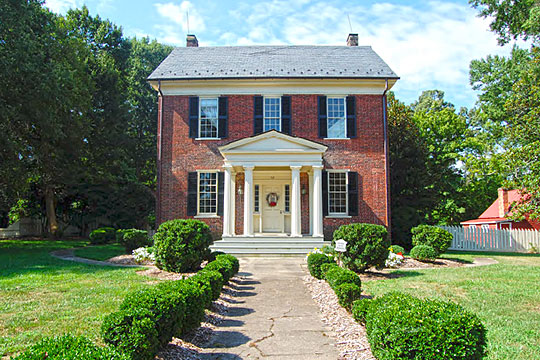 South Brick House, ca. 1838, 112 East South Avenue, Wake Forest Historic District, Wake Forest, NC, National Register