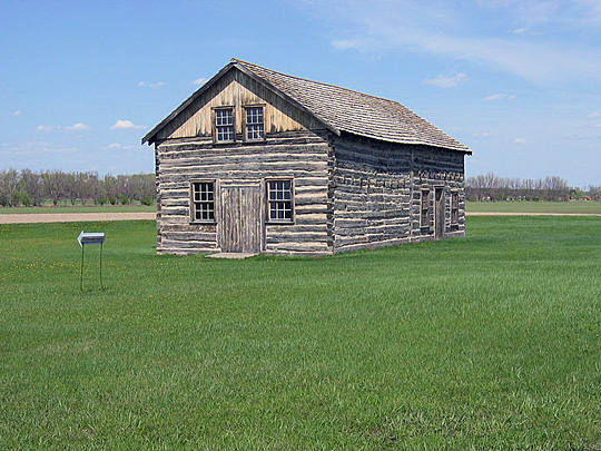 Gingras House and Trading Post, ca. 1845, Walhalla, ND