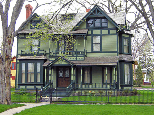 governor mansion,former,320 Avenue B, National Register, Bismarck, ND, ca. 1884