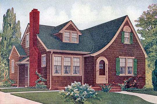 Ludlow model rendering from Everett S. Dodds' pattern book, <em>Build a Dodds Home,</em> n.d., Thomas D. Murphy Co., Red Oak, IA
