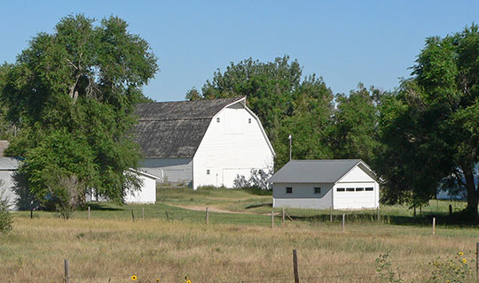 Gridley-Howe-Faden-Atkins Farmstead (Brookside Farm), Highway 71, Kimball, NE, National Register