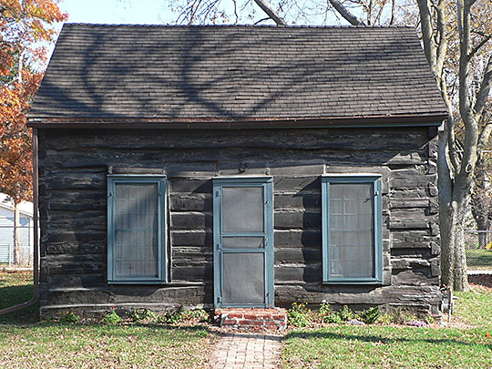 Old Log Cabin, ca. 1835, 1805 Hancock Street, Bellevue, NE, National Register.