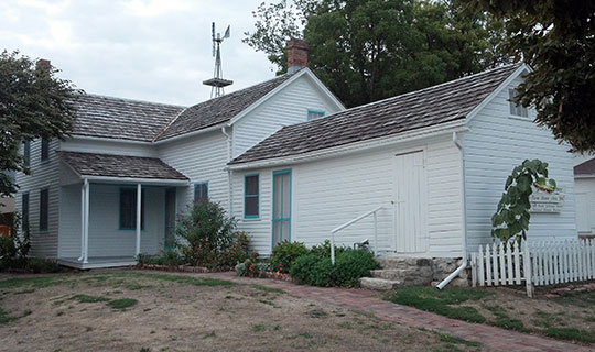 John Sautter Farmhouse, ca. 1860, 220 North Jefferson Street, Papillion, NE, National Register