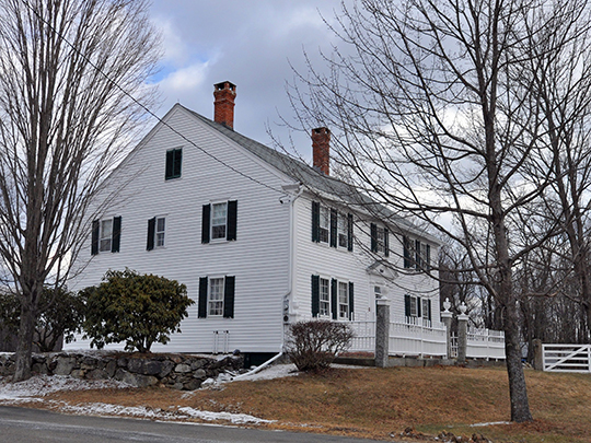 Jonathan Barnes House, ca. 1774, North Road, Hillsborough, NH, National Register