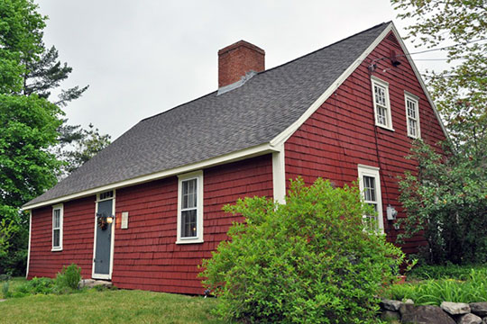 Killicut-Way House, ca. 1740, 2 Old House Lane, Nashua, NH, National Register