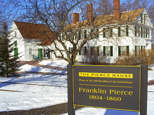 Pierce Manse, 14 Horseshoe Pond Lane (home of President Franklin Pierce from 1842-1848), Concord, NH, National Register