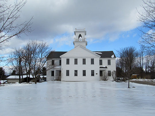 New London Town Hall (Old Colby Academy Building), ca. 1837, Main Street, New London, NH