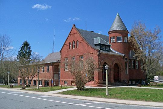 Public Library, Main Street, Charlestown Main Street Historic District, Charlestown, NH, National Register