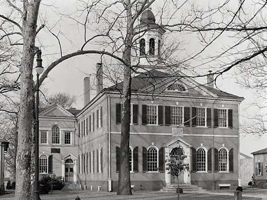 Burlington County Courthouse, ca. 1796, corner of High and Union Streets, Mount Holly, NJ