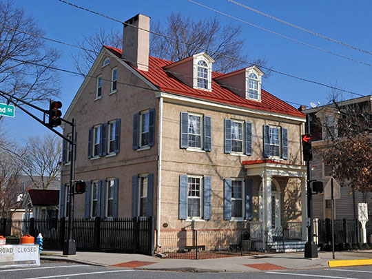Isaac Collins House, ca. 1785, 201 Broad Street, Burlington, NJ, National Register