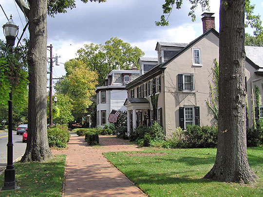East Main Street, Moorestown Historic District, Moorestown, NJ, National Register