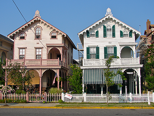 Houses on Guerny Street, Cape May, NJ