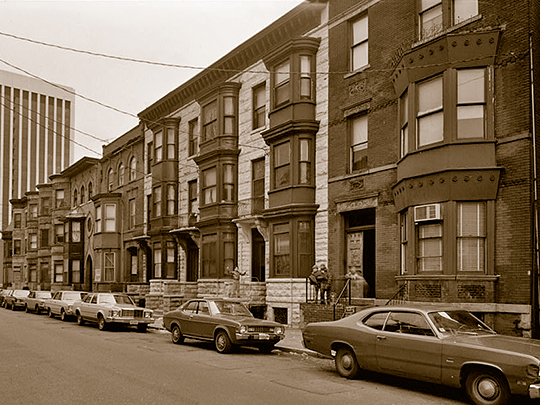 Row Homes at 46-58 James Street, James Street Commons Historic District, Newark, NJ, National Register