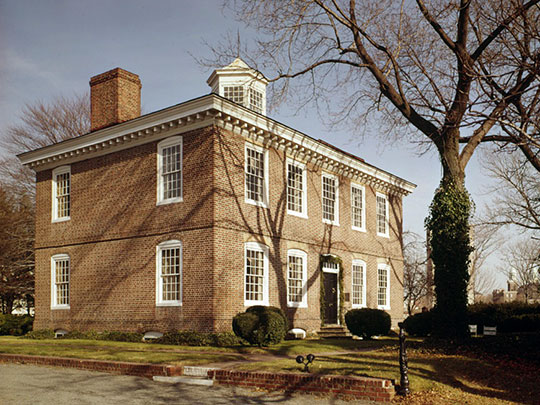 William Trent House, ca. 1719, 15 Market Street (539 South Warren Stree), ca. 1719, Trenton, NJ, National Register, Historic Landmark