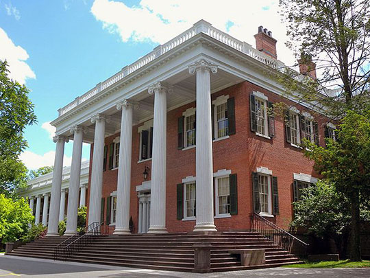 Gibbons Mansion (Mead Hall), ca. 1833, 36 Madison Avenue, Madison, NJ, National Register