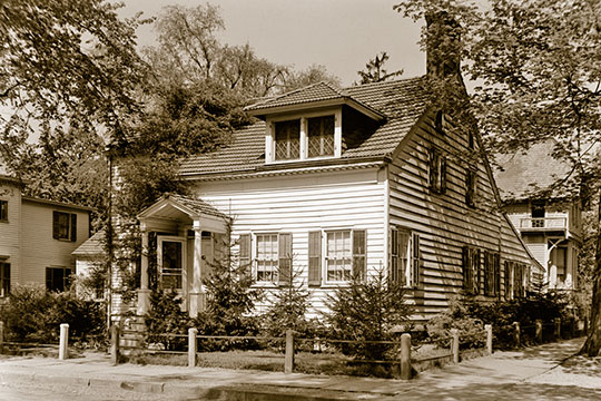 Moses Hatfield House, ca. 1834, 21 DeHart Street, Morristown, NJ.