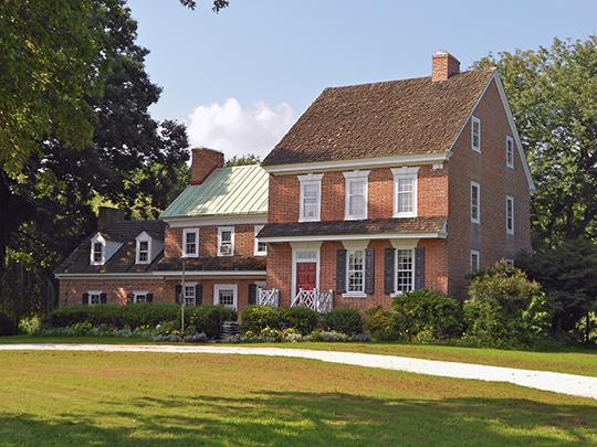 Benjamin Holmes House (Holmesland), ca. 1729, Fort Elfsborg-Hancock's Bridge Road, Salem, NJ, National Register