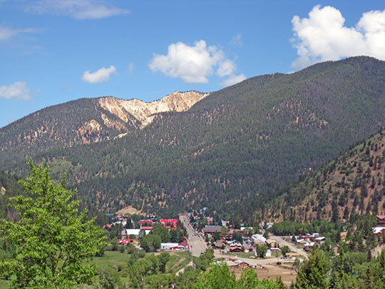 View of the Town of Red River, New Mexico