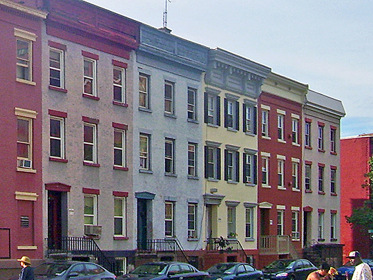 Row homes on Grand Street near Madison, Mansion Historic District, Albany,NY, National Register