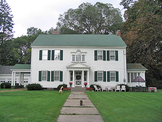 Washingtonian Hall (Amos Peterson House), ca. 1799, 3725 River Road, Endwell NY, National Register