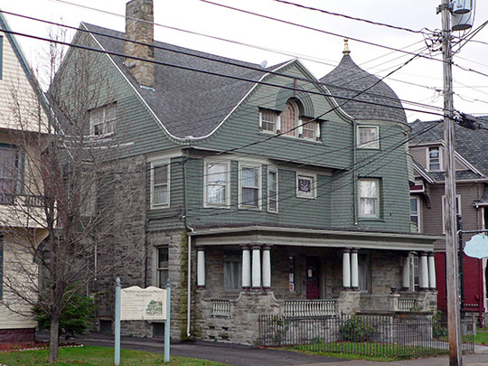 Harlow E. Bundy House, ca. 1893, 129 Main Street, Binghamton, NY, National Register