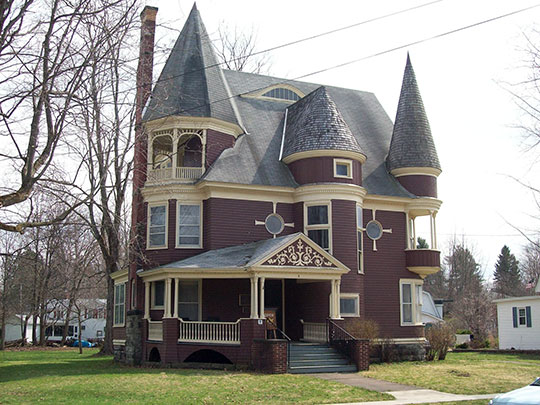 Simeon B. Robbins House, ca. 1895, 9 Pine Street, Franklinville, NY, National Register