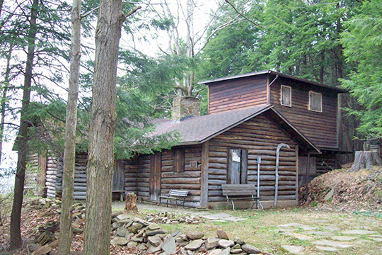 Pfeiffer-Wheeler American Chestnut Cabin, ca. 1941, Lillibridge Road, Portville, NY, National Register
