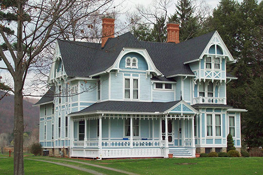 William E. Wheeler House, ca. 1880, 29 Maple Avenue, Portville, NY, National Register