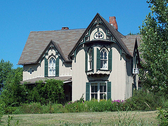 Dr. John Lord House, ca. 1867, Forest Road, Busti, NY, National Register