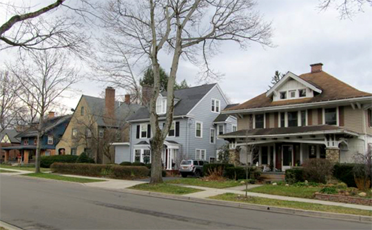 Homes in the Lakeview Avenue Historic District, Jamestown, NY, National Register